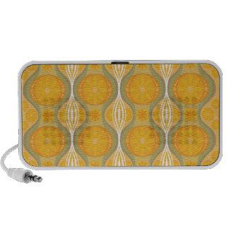 Rétro motif original de marguerite dans l orange haut-parleur portable