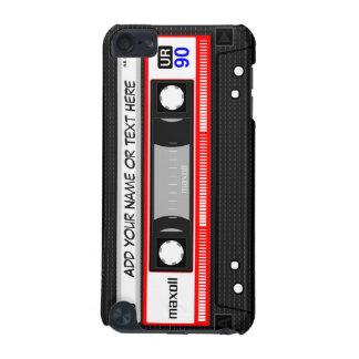 Rétro motif rouge drôle d'enregistreur à cassettes