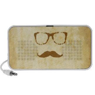 Rétro motif vintage de moustache haut-parleur iPod