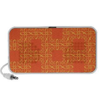 Rétro motif vintage orange haut-parleur mobile