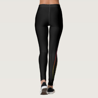 Retro Neonlichter Leggings