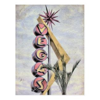 Retro Nevada Las Vegas Zeichen Vegas Postkarte