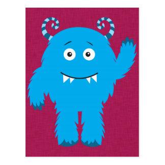 Retro Cute Blue Monster