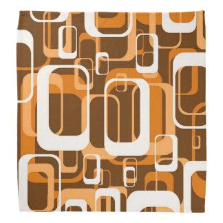 Retro Orange des Musters 1971 Kopftuch