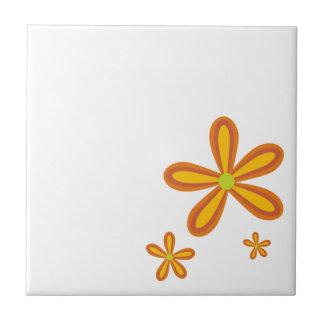 retro orange Muster der Blume 70ies Keramikfliesen