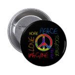 Rétro paix badge