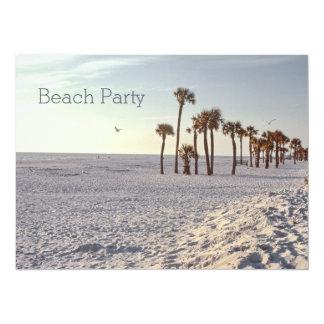 Retro Palmtree Florida Sand-Ozean-Strand-Party Karte