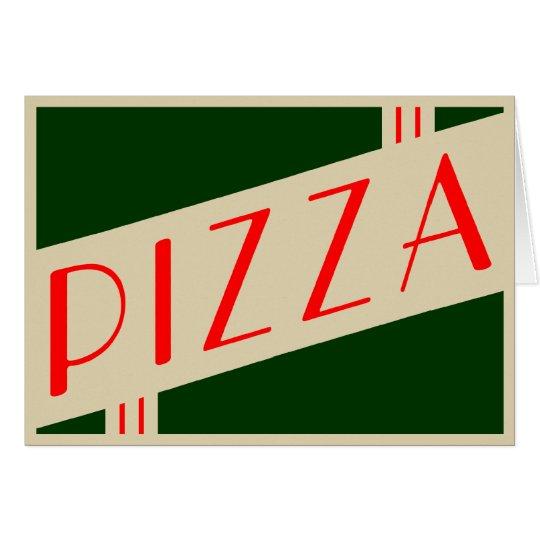Retro Pizza Karte