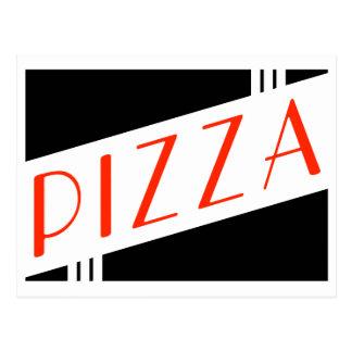 retro Pizza-Party Postkarte
