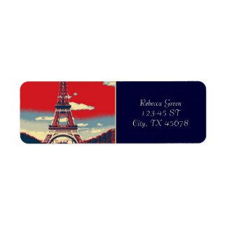retro Plakat Vintager Turm Frankreichs Paris