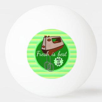 Retro Plakatartküchen-Handmischer Tischtennis Ball