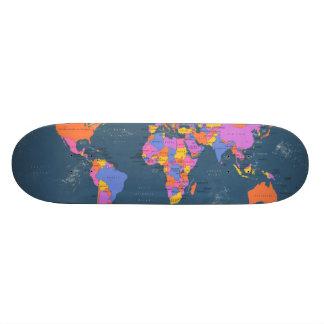 Retro politische Karte der Welt Individuelles Deck