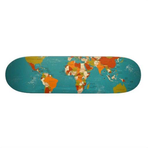 Retro politische Karte der Welt Individuelle Decks