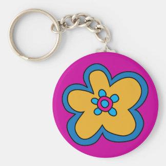 Rétro porte - clé de fleur de Bruit-Art Porte-clé Rond