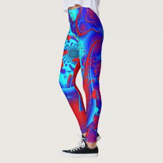 Retro psychedelisches Crazyness Leggings