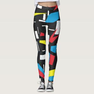 retro Punk des geometrischen mehrfarbigen Musters Leggings
