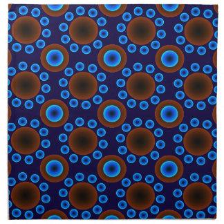 Retro Punkte des blauen Brauns der Stoffservietten