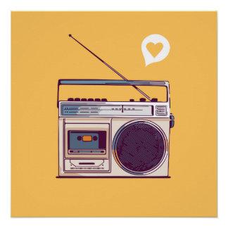 Retro RadioBoombox Poster