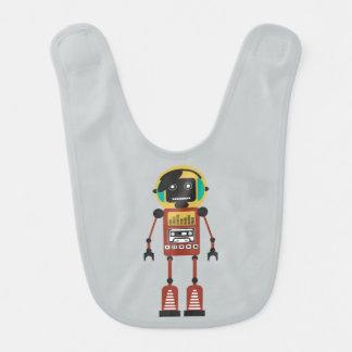 Retro Radioroboter Lätzchen