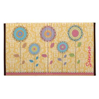 Retro Rainbow Flower Name IPAD Caseable Folio Case iPad Folio Case