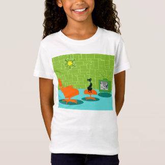 Retro Raum-Alterkitty-T - Shirt