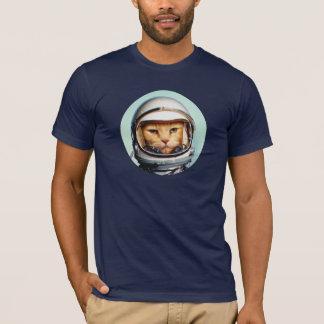 Retro Raum-Katze T-Shirt