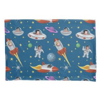 Retro Raum-Kinder Kissen Bezug