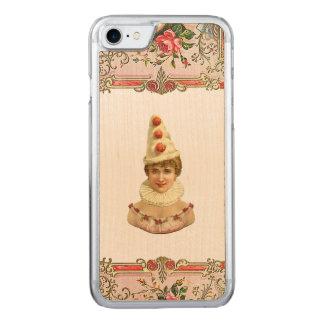 RETRO REBELLISCHES hübsches Pierrot Frau iPhone Carved iPhone 8/7 Hülle
