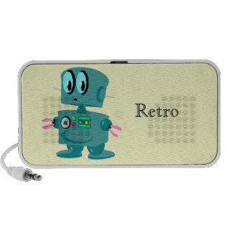Rétro robot vert classique haut-parleurs iPod