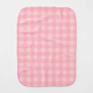 Retro rosa Gingham-karierter Muster-Hintergrund Baby Spucktuch
