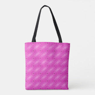 Retro rosa Kreise Tasche