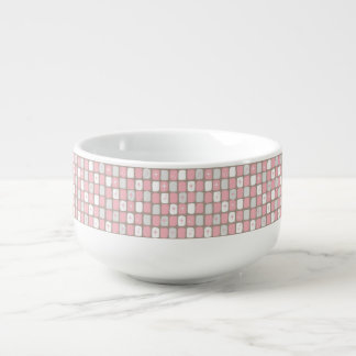 Retro rosa Sternexplosion-Suppen-Tasse Große Suppentasse