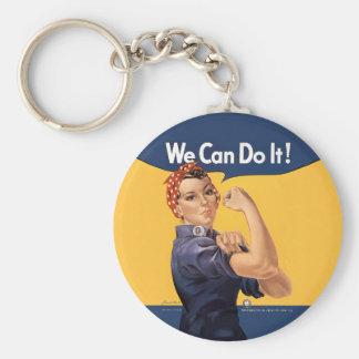 Retro Rosie können wir es tun Schlüsselanhänger