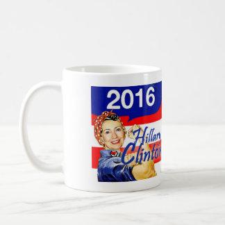 """Retro """"Rosie """" Tassen-Frauen Hillary für Hillary Tasse"""