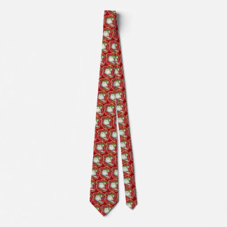 Retro rote karierte Snowman-Krawatte, Personalisierte Krawatten