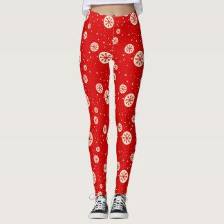 Retro rote u. weiße leggings