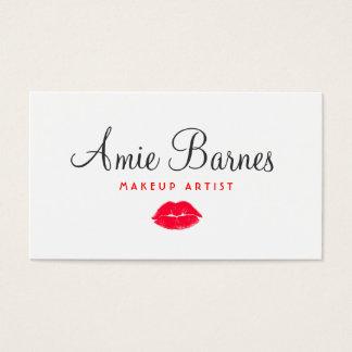 Rétro salon de beauté de baiser rouge de cartes de visite
