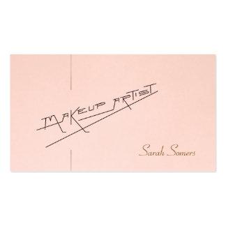 Rétro salon de beauté de maquilleur rose-clair carte de visite standard