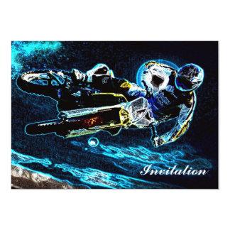 Retro Schmutzmotorrad-Rennläufer-Motorradradfahrer Karte