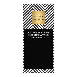 Retro Schwarzweiss-Muster-Gestell-Karte Werbekarte