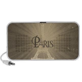Rétro sépia vintage de gris de Paris de Tour Haut-parleur Mobile
