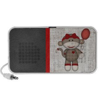 Rétro singe de chaussette haut-parleur portable