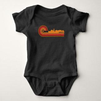 Retro Skyline Art-Lafayettes Indiana Baby Strampler