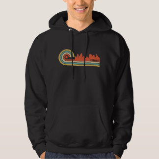 Retro Skyline Art-Springfields Illinois Hoodie