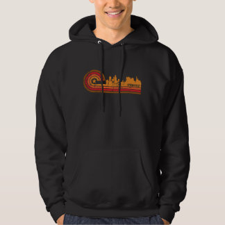 Retro Skyline Distresse Art-Springfields Illinois Hoodie