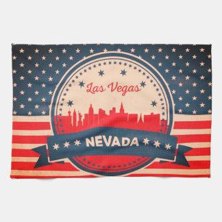 Retro Skyline Las Vegass Nevada Handtuch