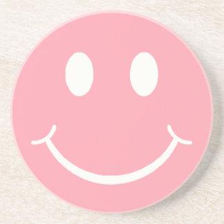 Retro smiley sandstein untersetzer