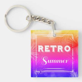 """Retro Sommer """"Jamaika"""" Keychain Beidseitiger Quadratischer Acryl Schlüsselanhänger"""