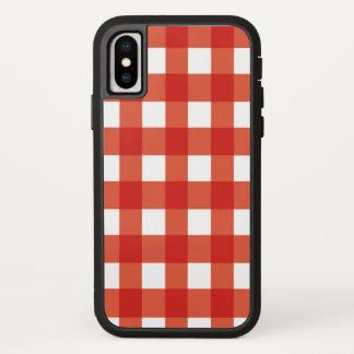Retro Sommer-klassische einfache rote iPhone X Hülle