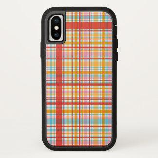 Retro Sommer-roter karierter iPhone X Hülle